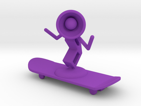 Lala - Skating - DeskToys in Purple Strong & Flexible Polished