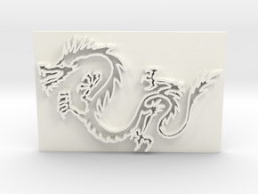 Dragon7a in White Strong & Flexible Polished