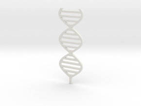 DNA sculpture 1:200 in White Strong & Flexible