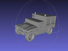 1/144 Humvee M1097A2 Shop Equipment Maintenance (S in White Strong & Flexible Polished