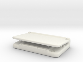 Nintendo 3dsX: mini 1/6 scale in White Strong & Flexible