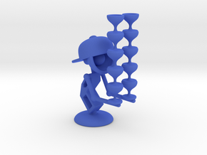 "LaLa ""Balancing Wine Glass"" - DeskToys in Blue Strong & Flexible Polished"