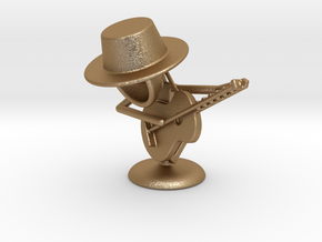 "Lala ""Playing Guitar"" - DeskToys in Matte Gold Steel"