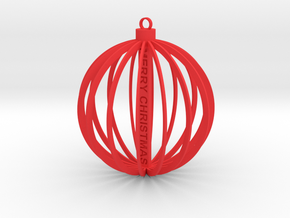 Christmas Ball in Red Strong & Flexible Polished
