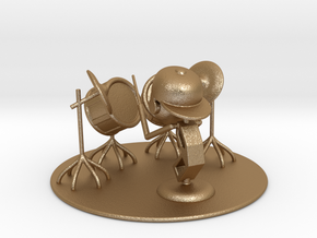 "Lala ""Trying Drums"" - DeskToys in Matte Gold Steel"