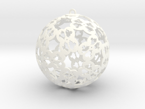 Christmas Ornament 2 in White Strong & Flexible Polished
