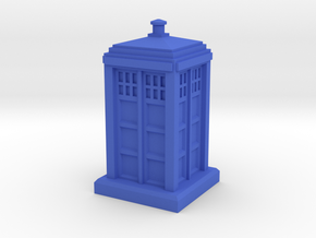 N Gauge - Police Box  in Blue Strong & Flexible Polished