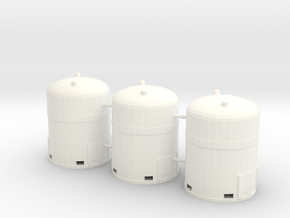 1/64th Industrial Hazardous Materials containers in White Strong & Flexible Polished