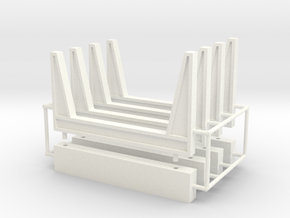 1/64th Staging log bunks in White Strong & Flexible Polished