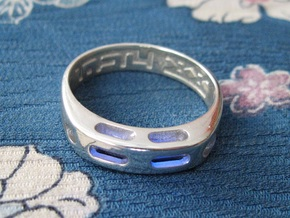 US7 Ring XX: Tritium in Polished Silver