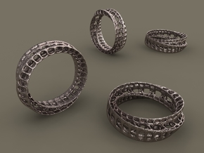 Twisted Bond Ring 18,5mm in Stainless Steel