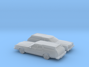 1/160 2X 1977-79 Ford LTD II Station Wagon in Frosted Ultra Detail