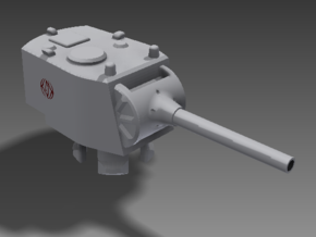 1/100 SU-12-180 Turret in White Strong & Flexible