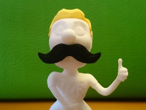 Movember Mike Body in White Strong & Flexible Polished