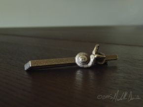 Anatomical Tie Clip with (Left) Cochlea in Stainless Steel