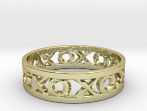 Size 7 Xoxo Ring in 18k Gold Plated