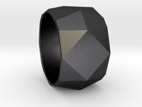 CODE: WP36 - RING SIZE 7 in Polished Grey Steel