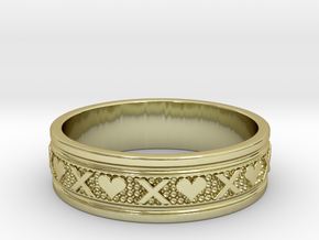 Size 7 Xoxo Ring B in 18k Gold Plated