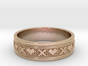 Size 8 Xoxo Ring B in 14k Rose Gold Plated