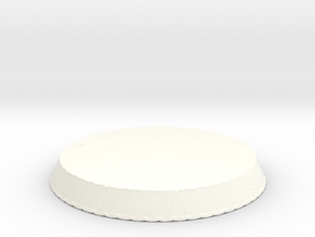 Wooden Circular Base in White Strong & Flexible Polished