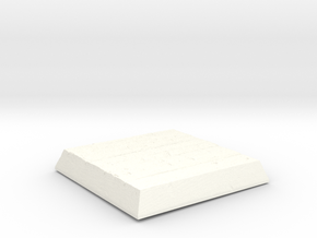 Wooden Square Base in White Strong & Flexible Polished