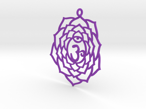 Crown Chakra Necklace in Purple Strong & Flexible Polished