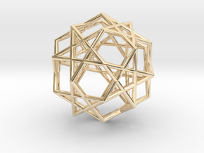 Star Dodecahedron in 14k Gold Plated