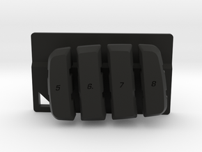 Nyth Vertical Buttons  in Black Strong & Flexible