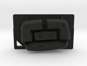 Nyth Edge Top Buttons in Black Strong & Flexible