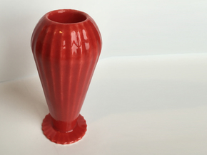 Candle Stick  in Gloss Red Porcelain