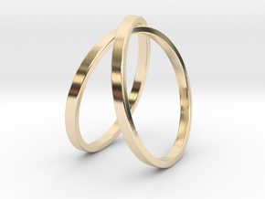 Infinity Ring in 14k Gold Plated