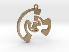 Labyrinth Series #3 in Polished Gold Steel