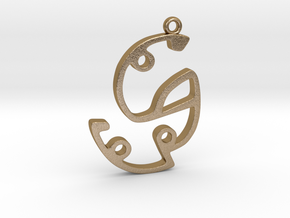 Labyrinth Series #4 in Polished Gold Steel