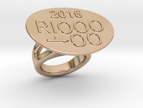Rio 2016 Ring 22 - Italian Size 22 in 14k Rose Gold Plated