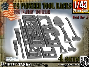 1-43 US Pioneer Tool Rack in Frosted Ultra Detail