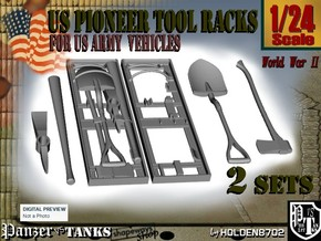 1-24 US Pioneer Tool Rack in Frosted Ultra Detail
