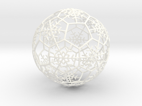 iFTBL Xmas Snow Ball / The One - Ornament 60mm ' in White Strong & Flexible Polished