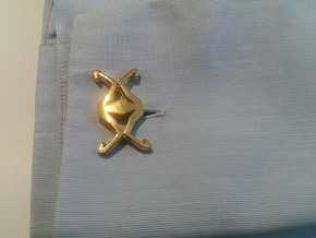 """""""Head to Head, UNION"""" Cufflinks in 18K Gold Plated"""