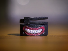 Tokyo Ghoul Ring: (US Size 4.0) in Black Strong & Flexible
