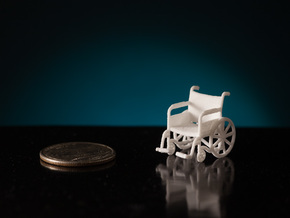 1:48 Wheelchair in White Strong & Flexible