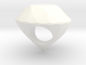 The Diamond Ring in White Strong & Flexible Polished