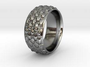 SCALES WIDE RING SIZE 11 in Premium Silver