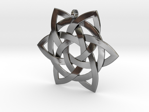 Celtic-star-pendant in Polished Silver
