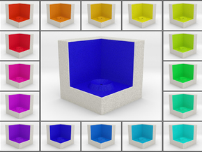 LuminOrb 1.3 - Cube Stand in Full Color Sandstone