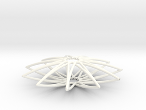 Spirograph Pendant 02 in White Strong & Flexible Polished