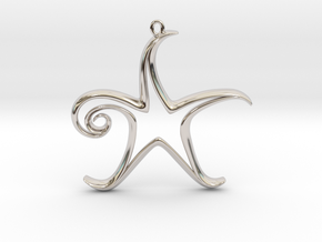 The Star Pendant in Rhodium Plated