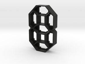 CLKV2-ML-01 : Diffuser Shell - Digit in Black Strong & Flexible