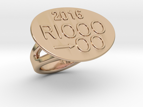 Rio 2016 Ring 29 – Italian Size 29 in 14k Rose Gold Plated