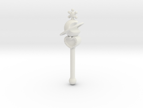 sm wands Neptune: 1/6 scale for dolls in White Strong & Flexible
