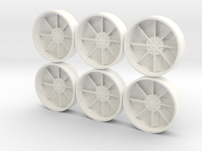 MILLENNIUM HSBRO ENGINE VENTS TURBINES in White Strong & Flexible Polished